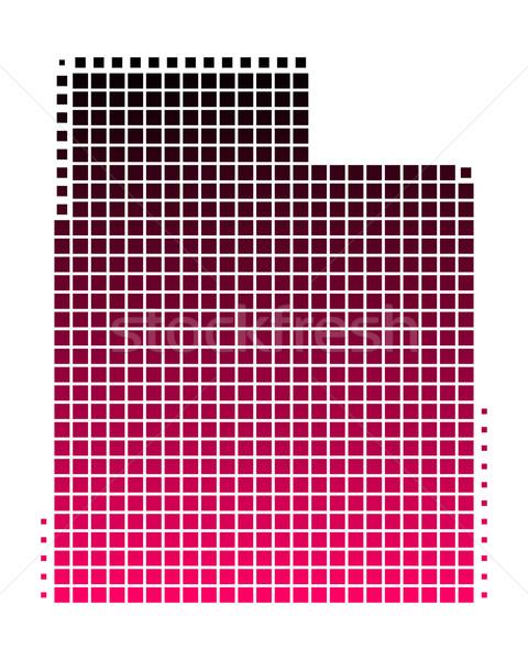 Kaart Utah patroon roze amerika paars Stockfoto © rbiedermann