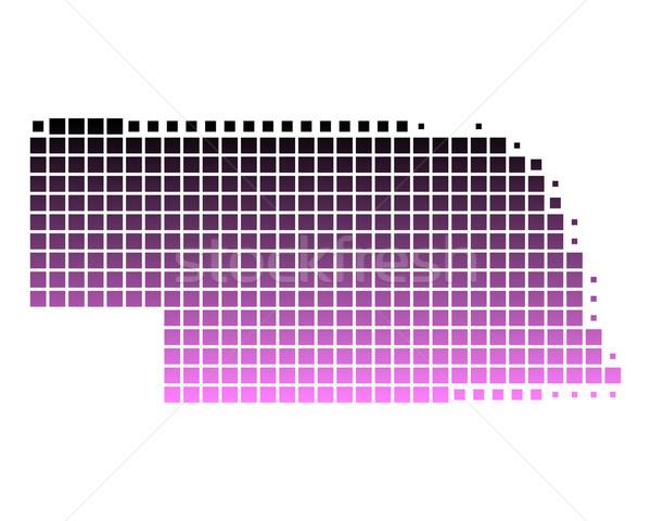 Mapa Nebraska padrão rosa américa praça Foto stock © rbiedermann