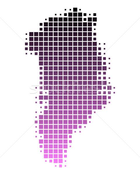 Térkép utazás minta rózsaszín tér illusztráció Stock fotó © rbiedermann