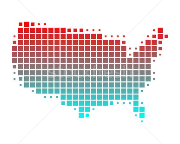 Térkép Egyesült Államok Amerika Föld zöld kék Stock fotó © rbiedermann