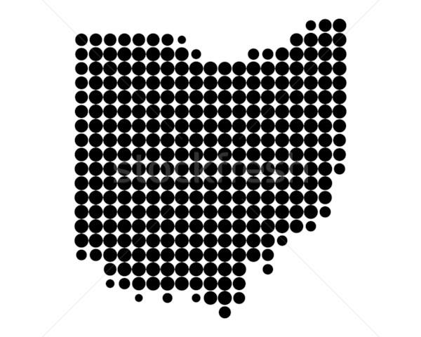 Térkép Ohio minta Amerika kör USA Stock fotó © rbiedermann