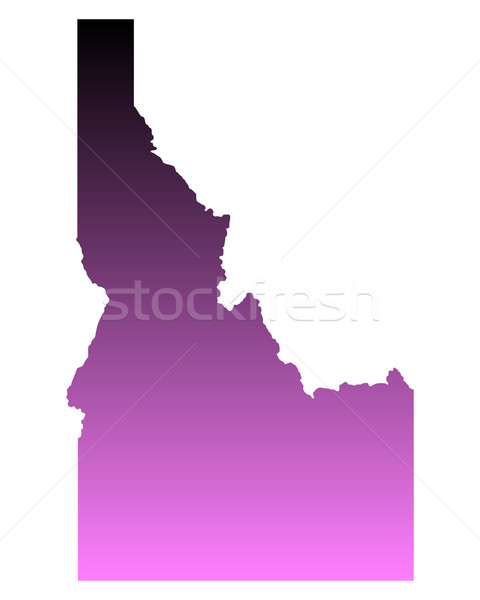 Mapa Idaho viajar rosa américa EUA Foto stock © rbiedermann