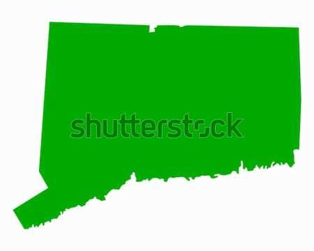 Mapa Connecticut verde viajar américa EUA Foto stock © rbiedermann