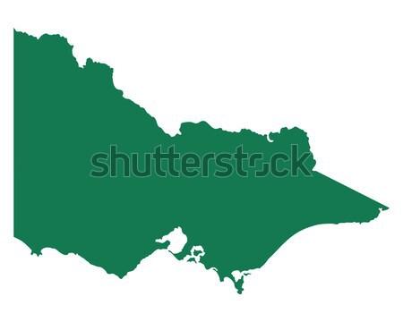 Mapa sicilia verde isla vector aislado Foto stock © rbiedermann