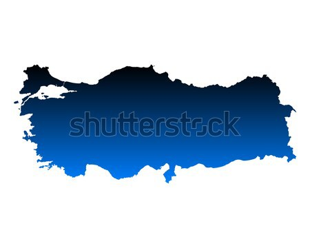 Harita Letonya mavi vektör yalıtılmış Stok fotoğraf © rbiedermann