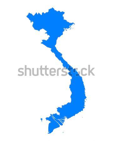 карта Вьетнам синий вектора изолированный Сток-фото © rbiedermann