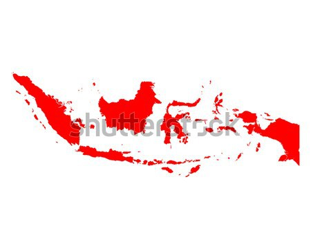 Mapa Indonésia vermelho vetor isolado Foto stock © rbiedermann