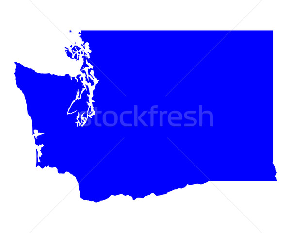 Map of Washington Stock photo © rbiedermann