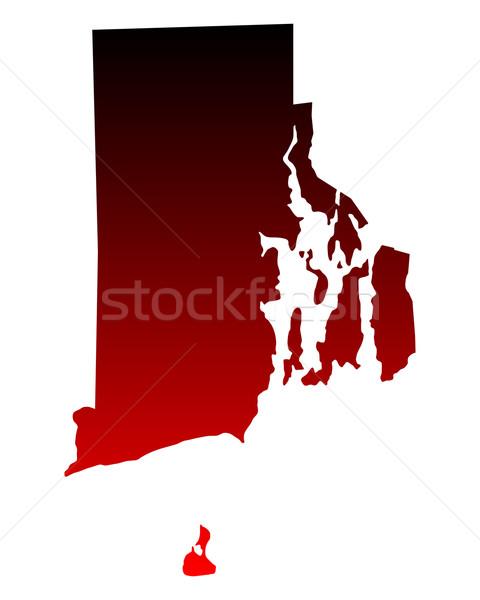 Harita Rhode Island arka plan hat Amerika ABD Stok fotoğraf © rbiedermann