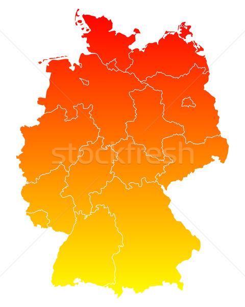 Сток-фото: карта · Германия · вектора · Берлин · изолированный · иллюстрация