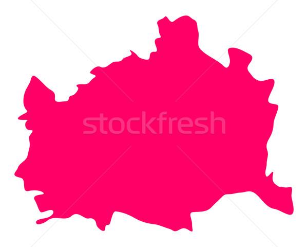 Térkép Bécs lila vektor izolált illusztráció Stock fotó © rbiedermann