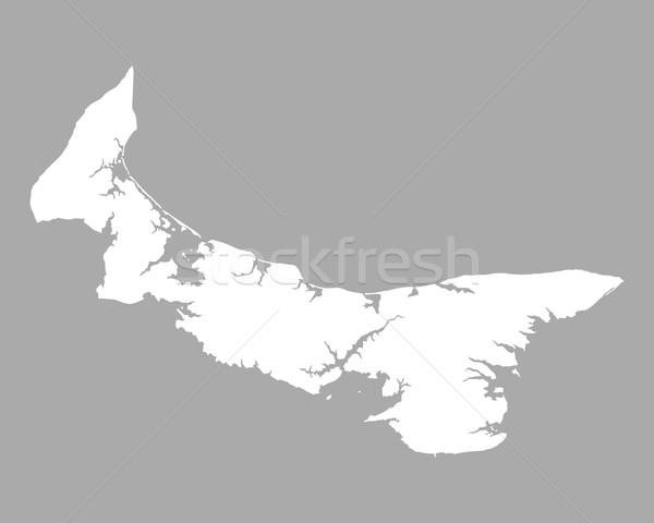 Harita prince edward adası arka plan ada beyaz hat Stok fotoğraf © rbiedermann