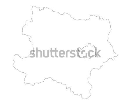 Kaart Oostenrijk vector geïsoleerd grijs grijs Stockfoto © rbiedermann
