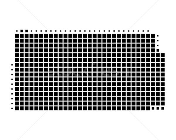 Harita Kansas siyah model Amerika kare Stok fotoğraf © rbiedermann