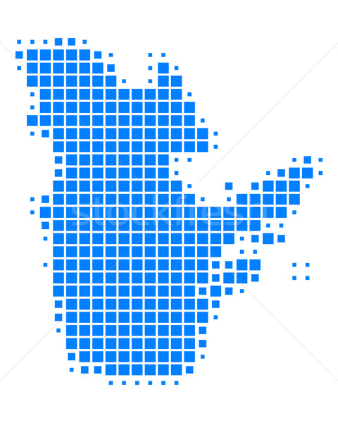 Stock photo: Map of Quebec
