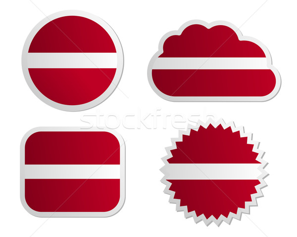 Латвия флаг Этикетки бумаги дизайна знак Сток-фото © rbiedermann