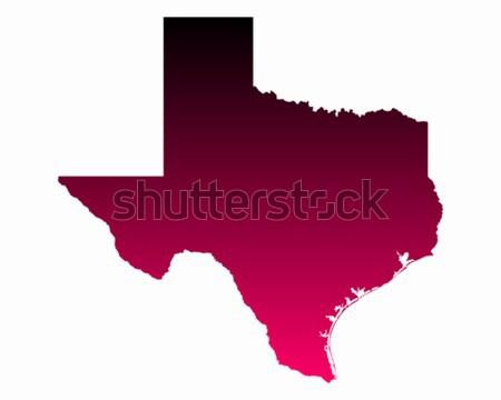 Harita Teksas pembe vektör yalıtılmış Stok fotoğraf © rbiedermann