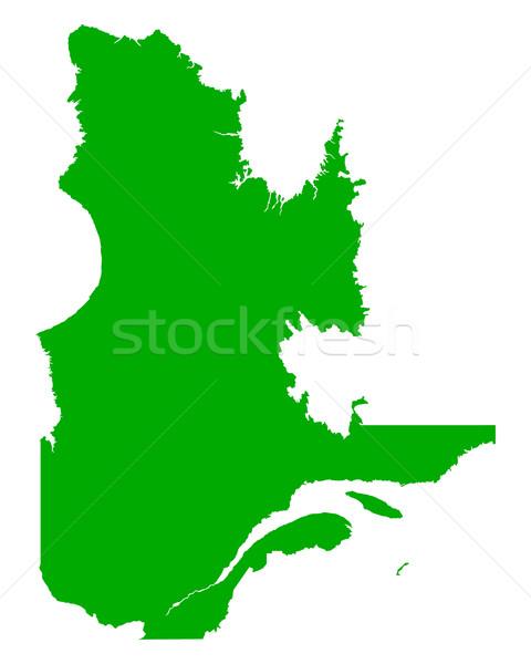 Kaart Quebec groene vector Canada geïsoleerd Stockfoto © rbiedermann