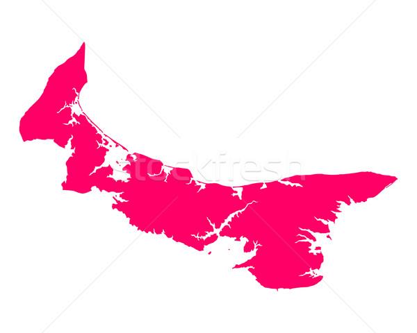 Mapa isla del príncipe eduardo viaje isla púrpura Canadá Foto stock © rbiedermann