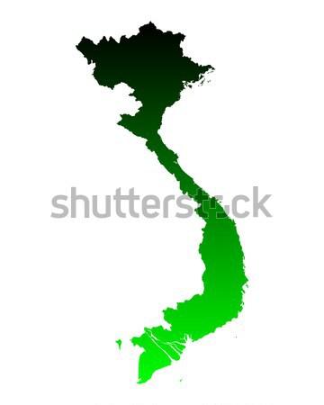 Carte Viêt-Nam vert vecteur isolé Photo stock © rbiedermann