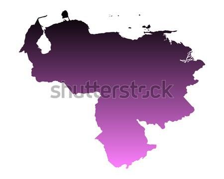 Mapa Venezuela rosa vetor isolado Foto stock © rbiedermann
