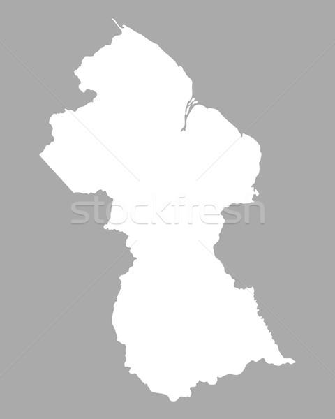 Kaart Guyana achtergrond lijn Stockfoto © rbiedermann