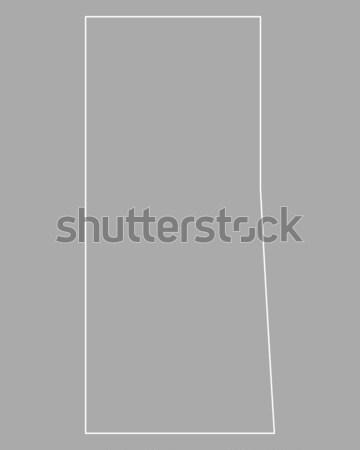 Pokaż saskatchewan wektora Kanada odizolowany szary Zdjęcia stock © rbiedermann