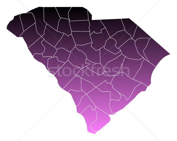 Mappa meridionale rosa USA vettore isolato Foto d'archivio © rbiedermann