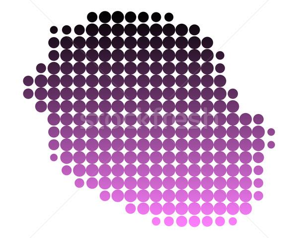 地図 ラ 再会 島 パターン ピンク ストックフォト © rbiedermann