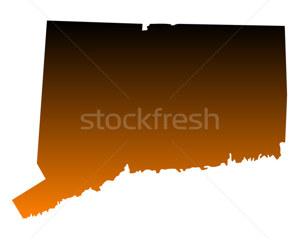 Foto stock: Mapa · Connecticut · viajar · américa · EUA · isolado