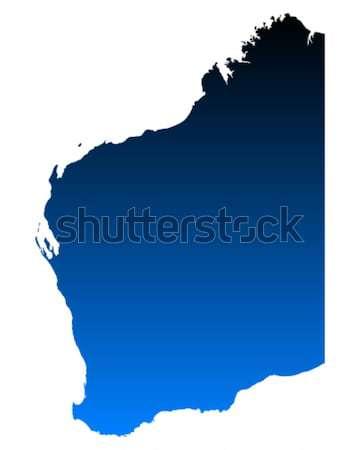 Térkép western Ausztrália zöld kék utazás Stock fotó © rbiedermann