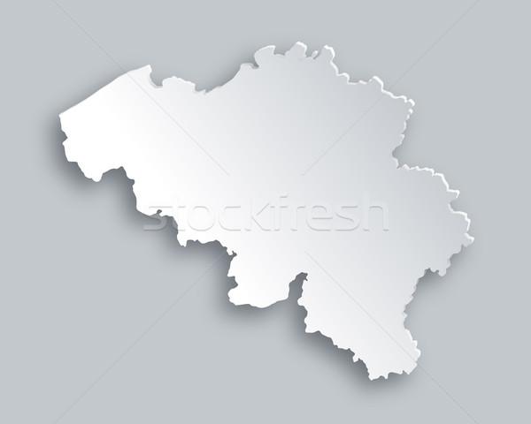 Mapa Bélgica papel resumen fondo tarjeta Foto stock © rbiedermann