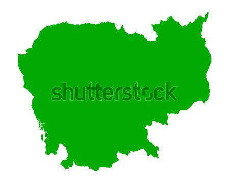 Kaart Cambodja groene reizen vector Stockfoto © rbiedermann