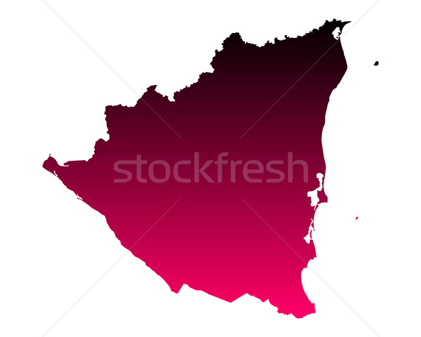 Térkép Nicaragua rózsaszín lila vektor izolált Stock fotó © rbiedermann