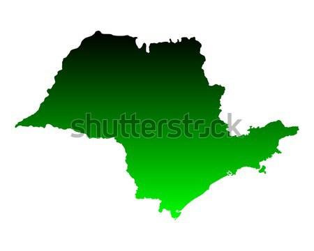 Térkép Sao Paulo zöld vektor izolált illusztráció Stock fotó © rbiedermann
