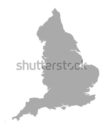 Carte Angleterre vecteur isolé illustration gris Photo stock © rbiedermann
