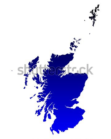 Mapa escócia azul vetor isolado Foto stock © rbiedermann