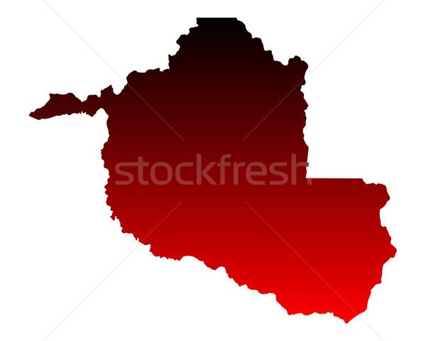 карта красный вектора изолированный иллюстрация география Сток-фото © rbiedermann