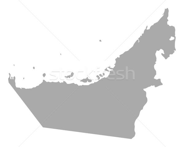 Mapa Árabe viajar vetor isolado ilustração Foto stock © rbiedermann