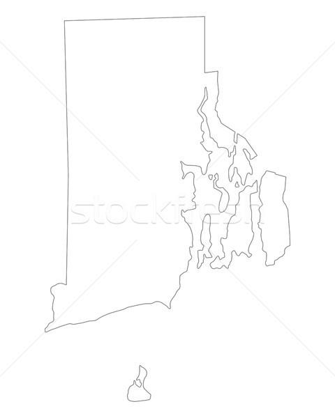 Harita Rhode Island arka plan ada beyaz hat Stok fotoğraf © rbiedermann