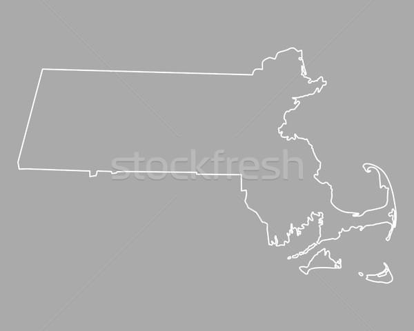 Térkép Massachusetts USA vektor izolált illusztráció Stock fotó © rbiedermann
