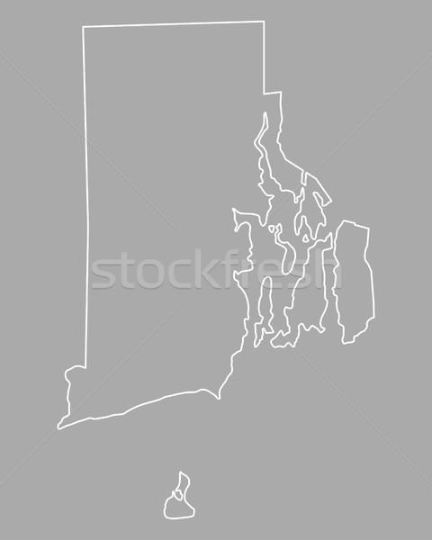 Harita Rhode Island ada ABD vektör yalıtılmış Stok fotoğraf © rbiedermann