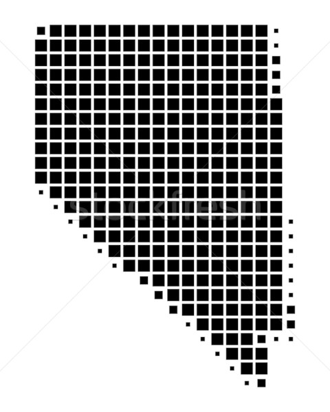 Carte Nevada noir modèle Amérique carré Photo stock © rbiedermann