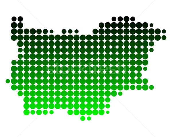 地図 ブルガリア 緑 パターン サークル ポイント ストックフォト © rbiedermann