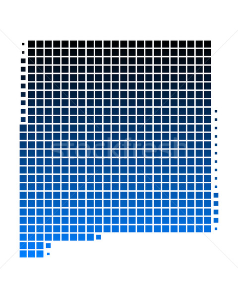 карта Нью-Мексико синий шаблон Америки квадратный Сток-фото © rbiedermann