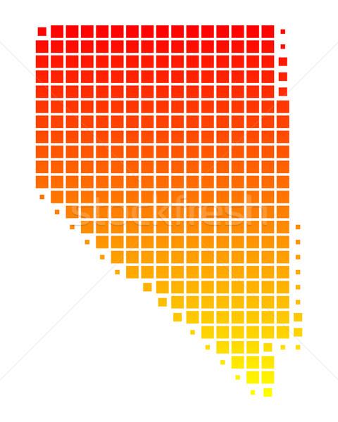 Mapa Nevada padrão américa praça ilustração Foto stock © rbiedermann