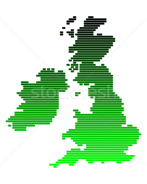 Map of the British Isles Stock photo © rbiedermann