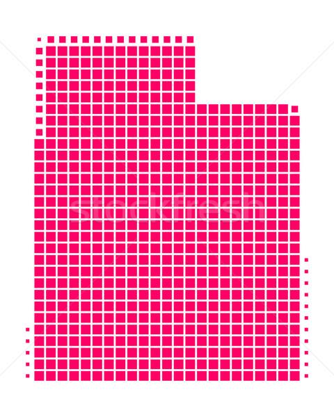 ストックフォト: 地図 · ユタ州 · パターン · アメリカ · 紫色 · 広場
