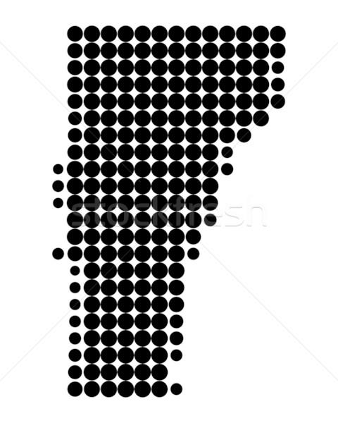 карта Вермонт черный шаблон Америки круга Сток-фото © rbiedermann