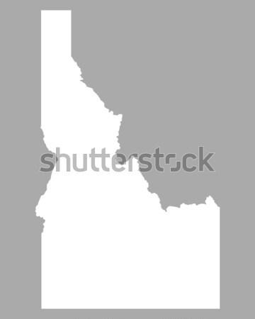 Kaart Idaho reizen amerika USA geïsoleerd Stockfoto © rbiedermann